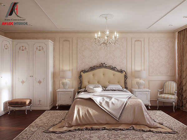 14. Sự quyến rũ của giường ngủ này nằm trên những đường nét uốn lượn