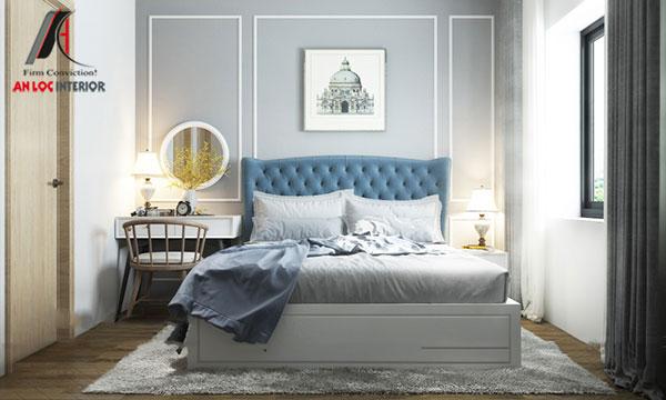 25. Mẫu giường ngủ phù hợp với không gian tân cổ điển