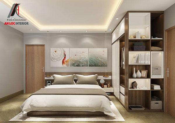 27. Giường ngủ gỗ công nghiệp phong cách hiện đại
