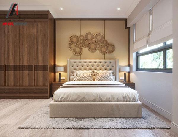 3. Thiết kế giường ngủ kiểu cách sang trọng, quyến rũ