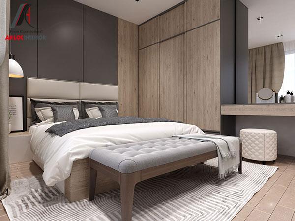 4. Một trong những mẫu giường đẹp với chất liệu gỗ