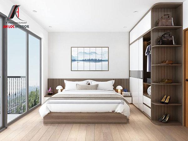 6. Giường đẹp hiện đại kiểu thấp cận sàn