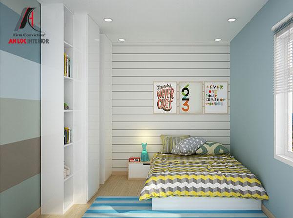 1. Giường ngủ từ gỗ công nghiệp với kích thước phù hợp với diện tích căn phòng