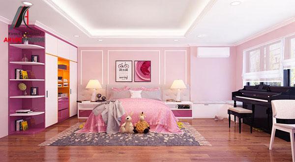 16. Mẫu giường ngủ đẹp cho phòng trẻ em phong cách tân cổ điển