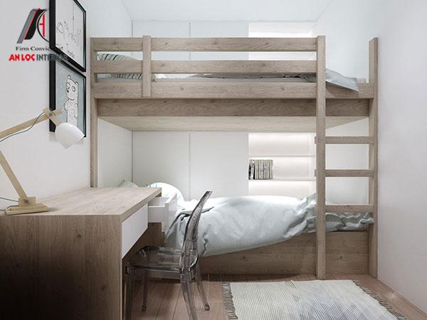 4. Với những gia đình có 2 bé thì giường tầng là giải pháp hữu hiệu