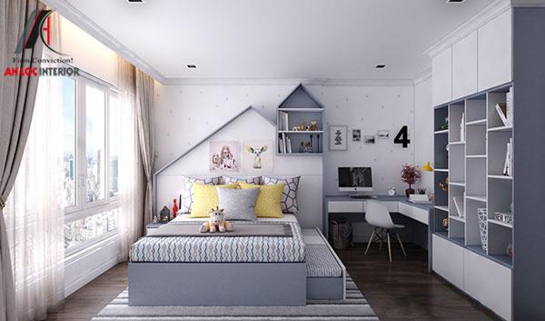 5. Thiết kế giường ngủ 2 trong 1 vô cùng độc đáo