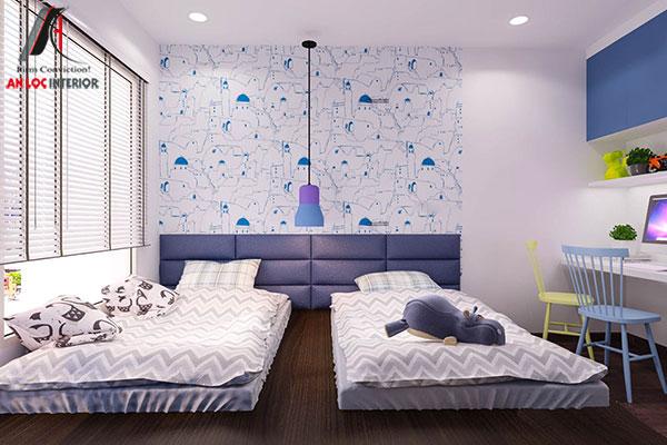 8. Hai giường ngủ đơn cho 2 bé