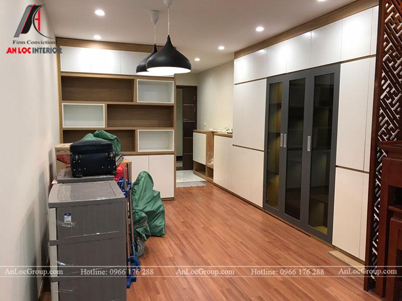 Thi công nội thất chung cư 102m2 tại Goldseason 47 Nguyễn Tuân - Ảnh 2
