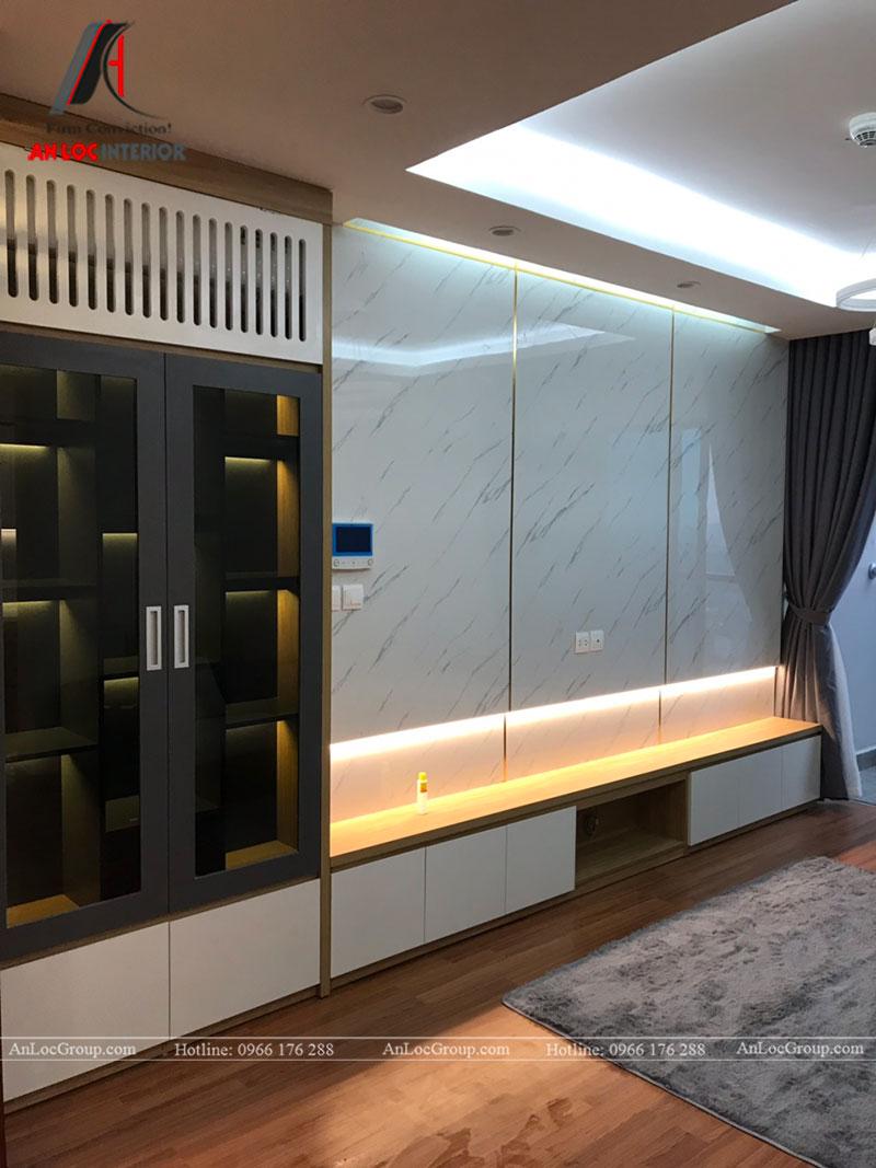 Thi công nội thất chung cư 102m2 tại Goldseason 47 Nguyễn Tuân - Ảnh 3