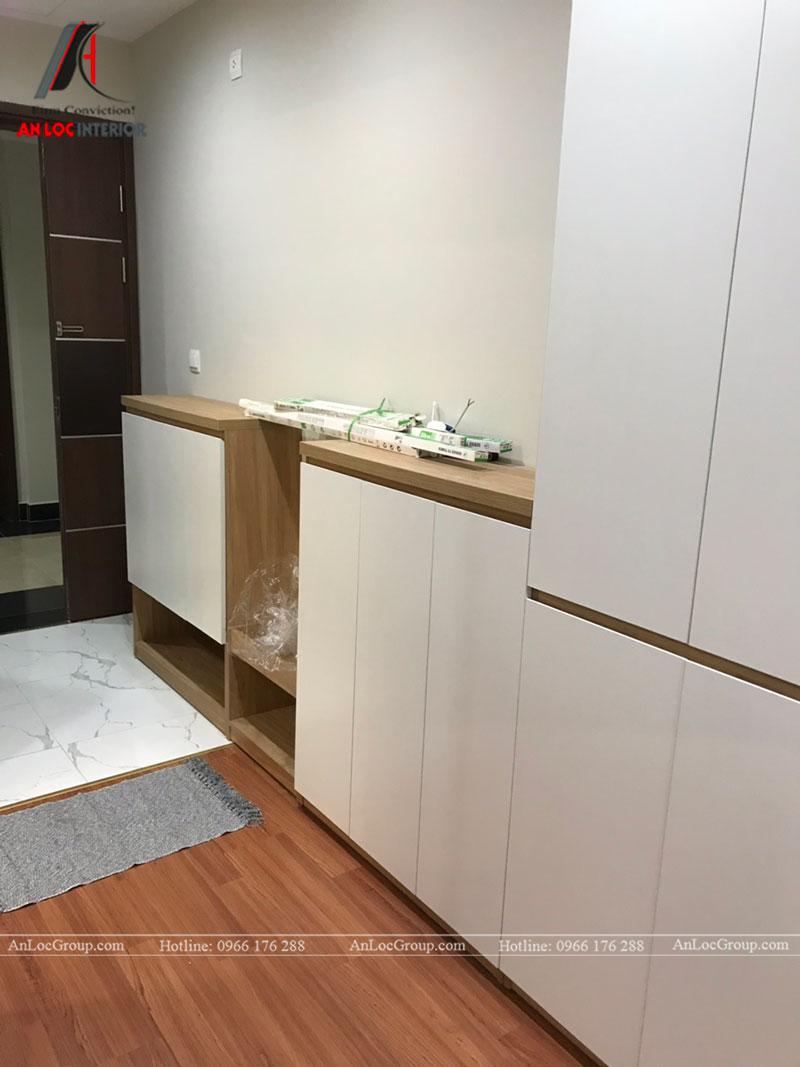 Thi công nội thất chung cư 102m2 tại Goldseason 47 Nguyễn Tuân - Ảnh 4