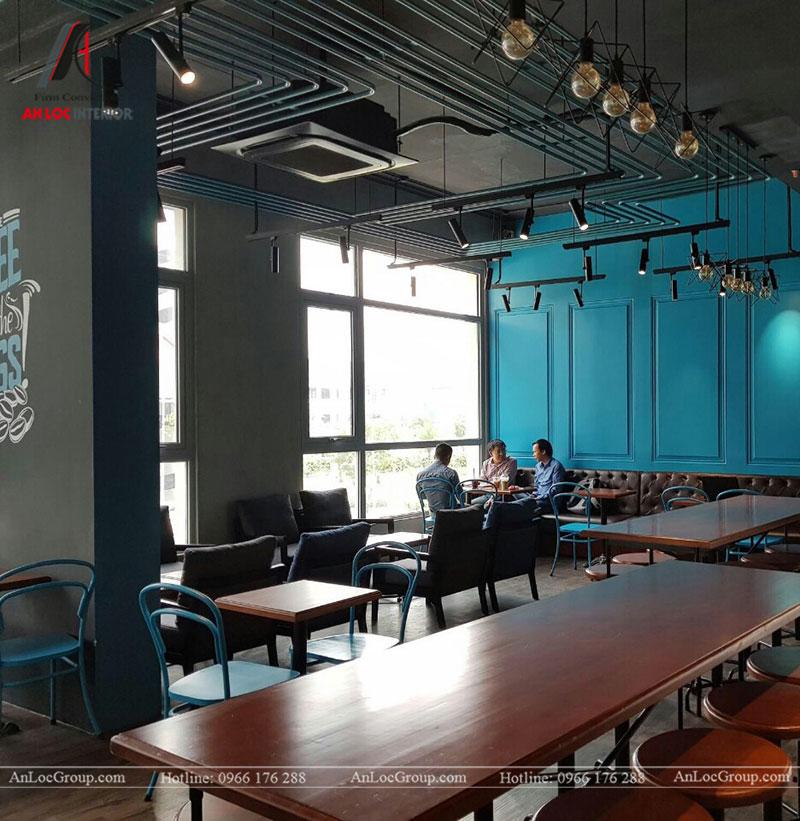Thi công nội thất quán cafe 260m2 tại Vinhomes Tân Cảng - Ảnh 10