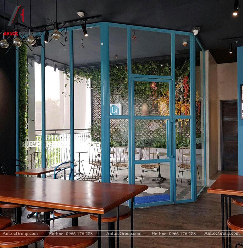 Thi công nội thất quán cafe 260m2 tại Vinhomes Tân Cảng - Ảnh 15