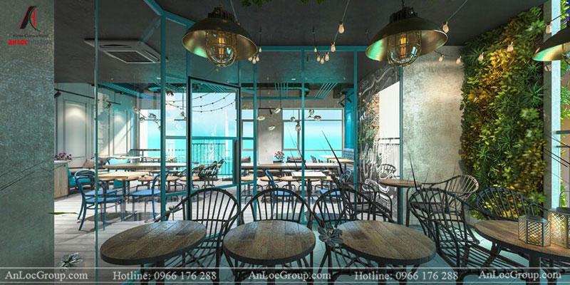 Thi công nội thất quán cafe 260m2 tại Vinhomes Tân Cảng - Ảnh 3