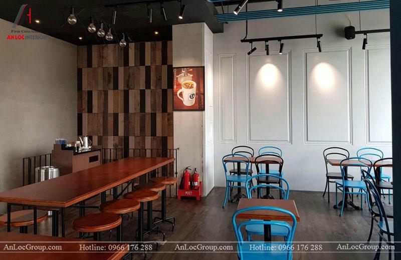 Thi công nội thất quán cafe 260m2 tại Vinhomes Tân Cảng - Ảnh 8