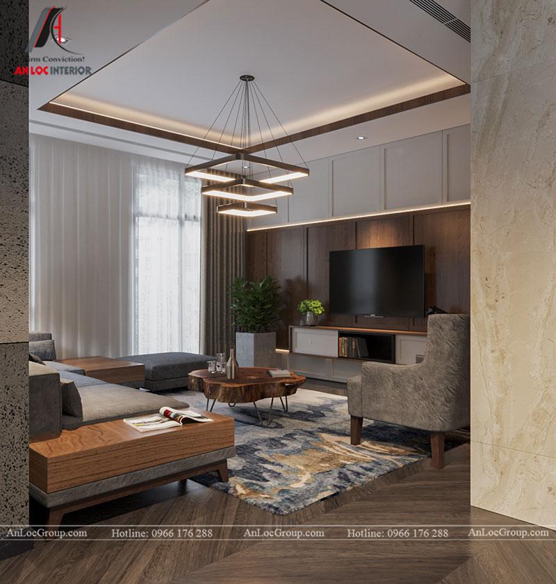 Thiết kế nội thất biệt thự liền kề Vinhomes Mễ Trì - Ảnh 2