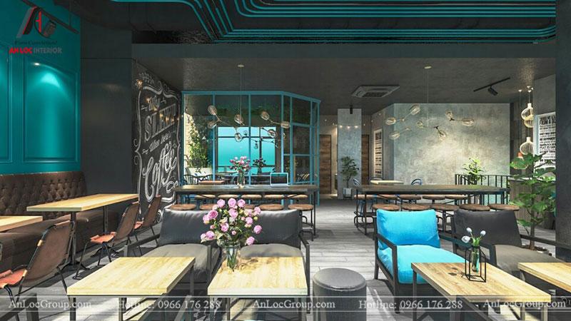 Thiết kế nội thất quán cafe 260m2 tại Vinhomes Tân Cảng - Ảnh 10