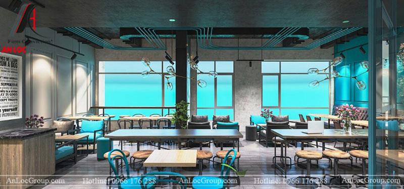 Thiết kế nội thất quán cafe 260m2 tại Vinhomes Tân Cảng - Ảnh 12