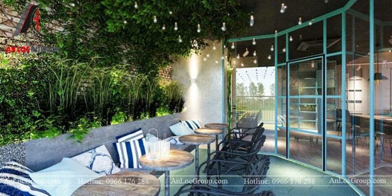 Thiết kế nội thất quán cafe 260m2 tại Vinhomes Tân Cảng - Ảnh 14