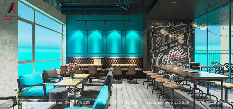 Thiết kế nội thất quán cafe 260m2 tại Vinhomes Tân Cảng - Ảnh 3