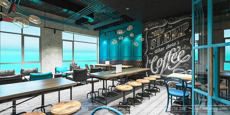 Thiết kế nội thất quán cafe 260m2 tại Vinhomes Tân Cảng - Ảnh 6