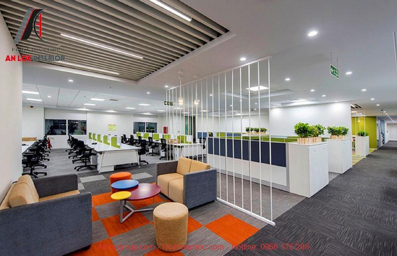 Mẫu thiết kế nội thất văn phòng làm việc 1