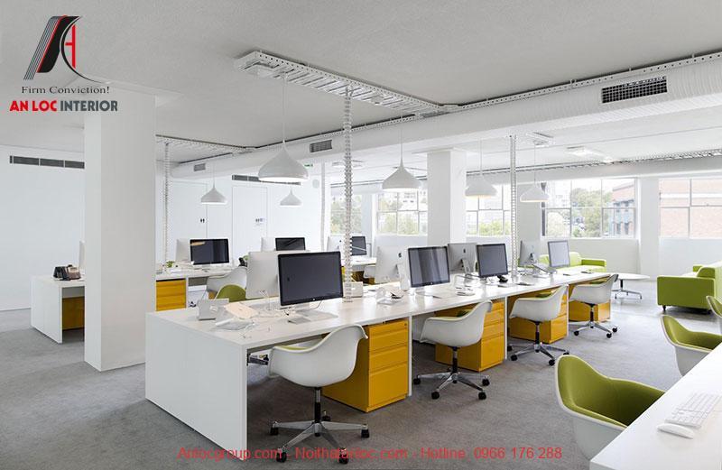 Mẫu thiết kế nội thất văn phòng làm việc 2
