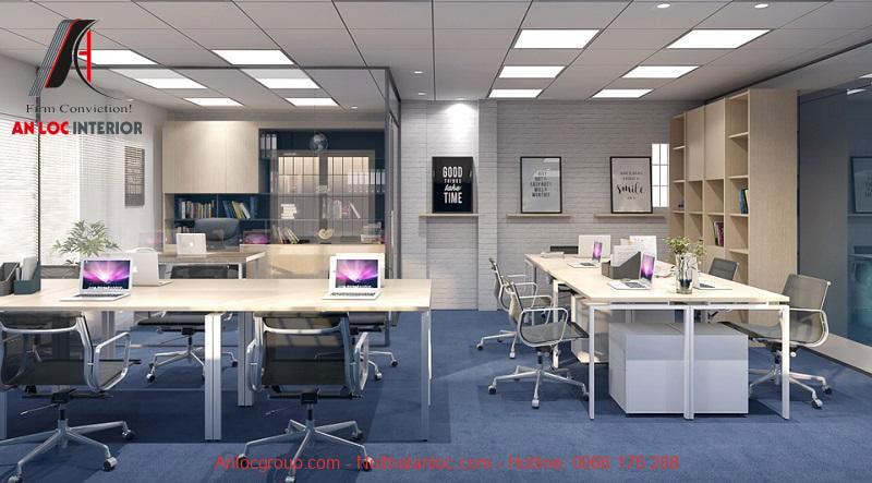 Mẫu thiết kế nội thất văn phòng làm việc 5