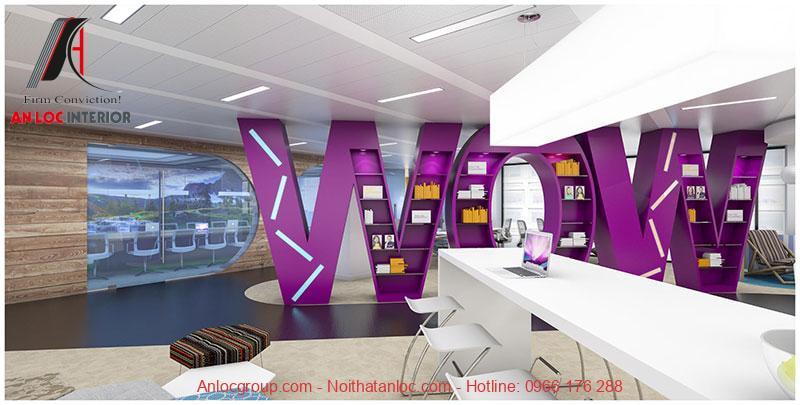 Mẫu thiết kế nội thất văn phòng làm việc 6