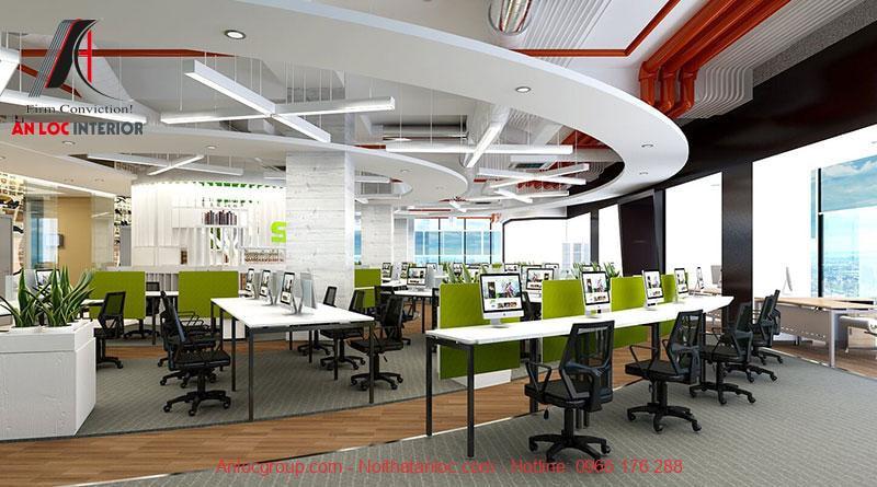 Mẫu thiết kế nội thất văn phòng làm việc 7