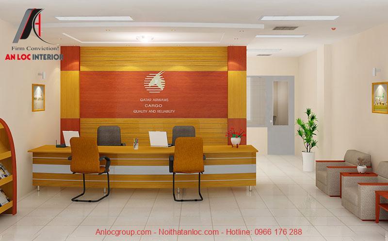 Mẫu thiết kế quầy lễ tân văn phòng 9
