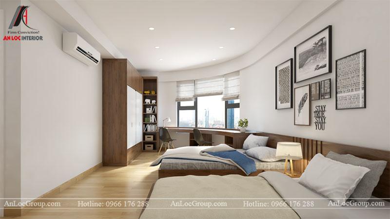 Thiết kế căn hộ 66m2 tại Tòa C Vinaconex 2 - Ảnh 9