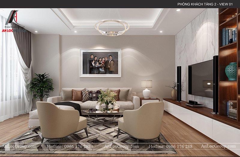 Thiết kế nội thất phòng khách nhà phố tại Hà Nam