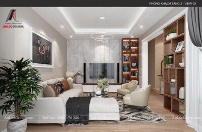 Mẫu thiết kế nội thất nhà phố 4 tầng hiện đại tại Hà Nam - Ảnh 2
