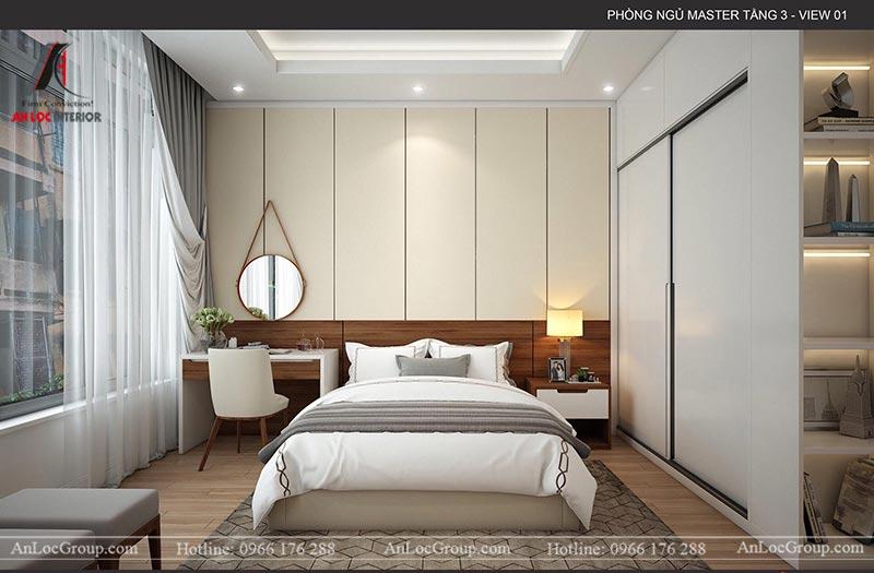 Nội thất phòng ngủ master nhà phố hiện đại tại Hà Nam
