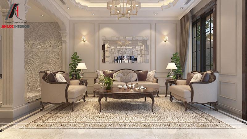 Thiết kế nội thất biệt thự Gamuda Garden phong cách tân cổ điển - Ảnh 1