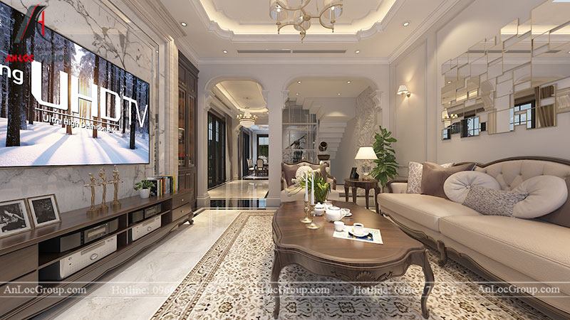 Thiết kế nội thất biệt thự Gamuda Garden phong cách tân cổ điển - Ảnh 2