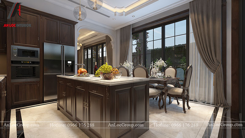 Thiết kế nội thất biệt thự Gamuda Garden phong cách tân cổ điển - Ảnh 8
