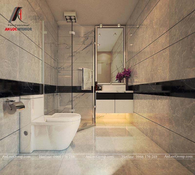 Thiết kế phòng tắm chung cư mini