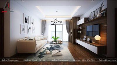 Thiết kế phòng khách chung cư 76m2 tại D' El Dorado
