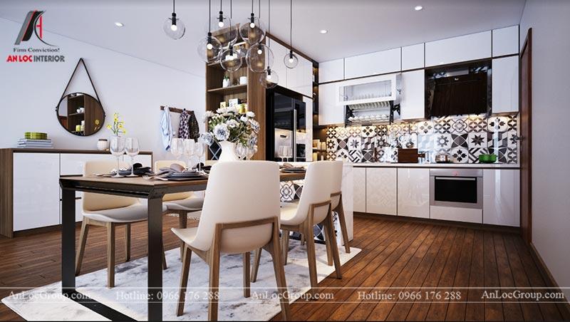 Thiết kế phòng bếp chung cư 76m2 tại D' El Dorado
