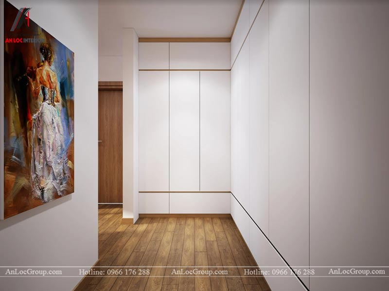 Thiết kế phòng ngủ master chung cư 76m2 tại D' El Dorado
