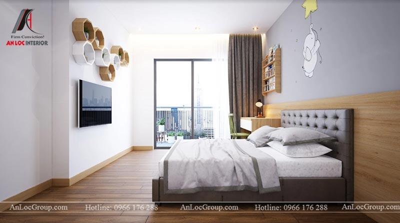 Thiết kế phòng ngủ riêng chung cư 76m2 tại D' El Dorado