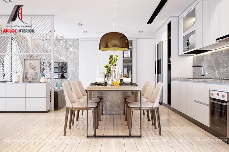 Thiết kế chung cư đẹp 112m2 tại An Bình City - Ảnh 4
