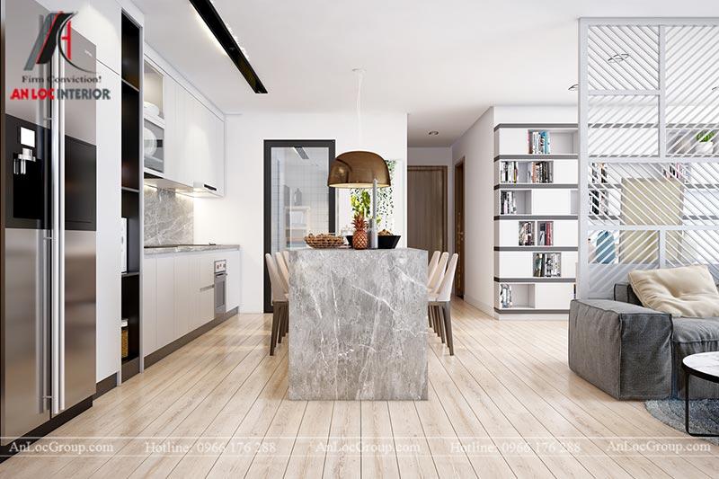 Thiết kế chung cư đẹp 112m2 tại An Bình City - Ảnh 5