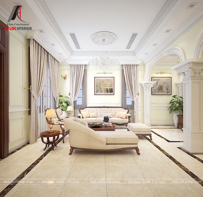 Thiết kế nội thất biệt thự An Vượng Villas phong cách tân cổ điển - Ảnh 2