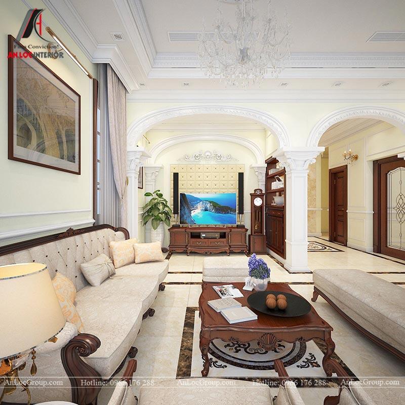 Thiết kế nội thất biệt thự An Vượng Villas phong cách tân cổ điển - Ảnh 3