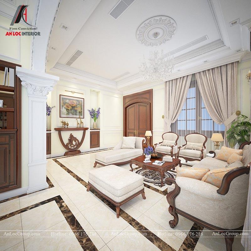 Thiết kế nội thất biệt thự An Vượng Villas phong cách tân cổ điển - Ảnh 4