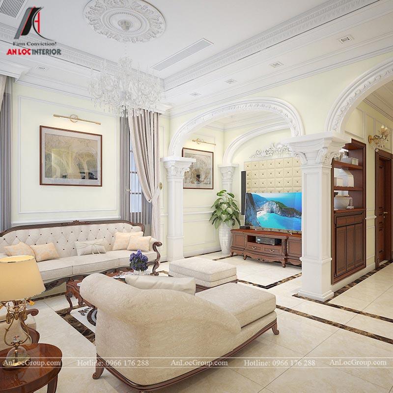Thiết kế nội thất biệt thự An Vượng Villas phong cách tân cổ điển - Ảnh 5