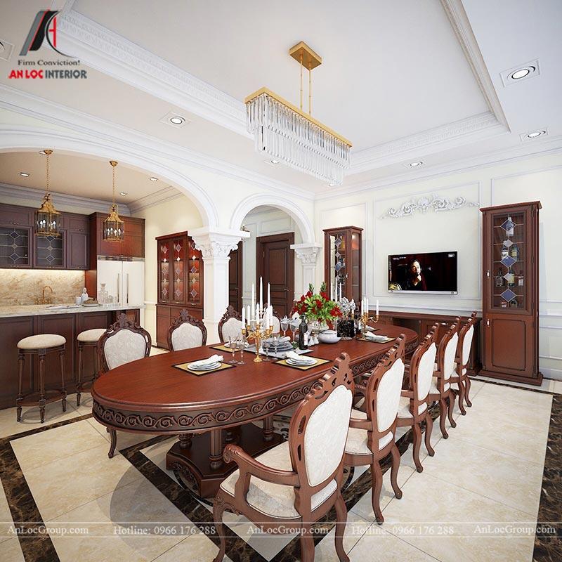 Thiết kế nội thất biệt thự An Vượng Villas phong cách tân cổ điển - Ảnh 7