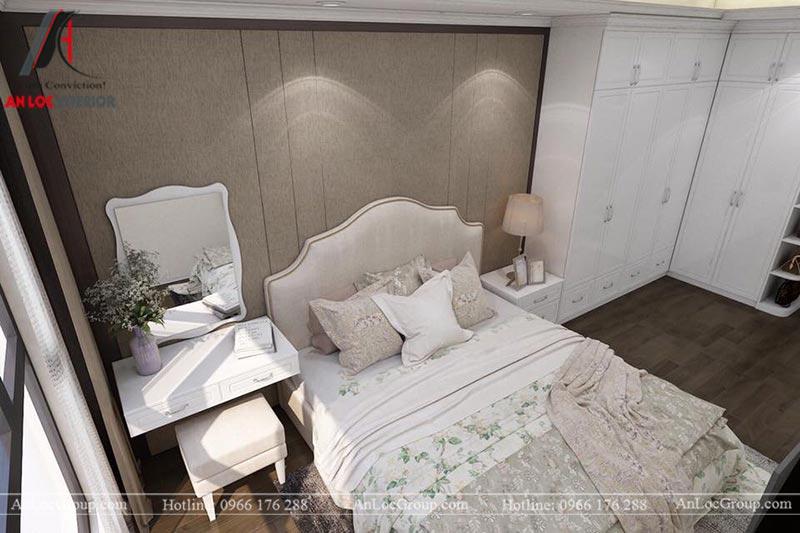 Thiết kế nội thất nhà biệt thự tân cổ điển tại Lạng Sơn - Phòng ngủ